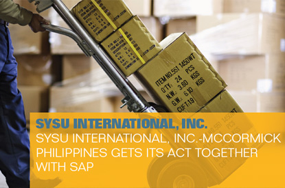 SYSU McCormick Philippines gets its act together with SAP