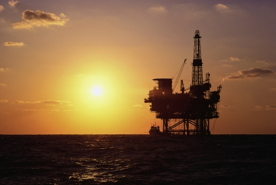 Offshore Drilling Platform and Sun
