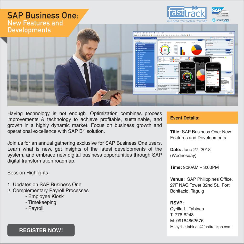 SAPB1 News&Developments June 27, 2018