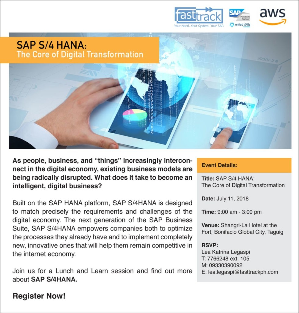 sap s4 hana - the core of digital transformation